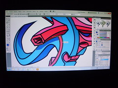 con trazo (FALSO: Graffiti Art) Tags: estudio 3dart letraf graffiti3d graffitidigital falsoart