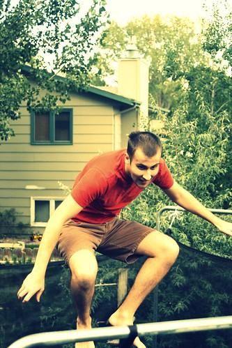 Ben on the trampoline