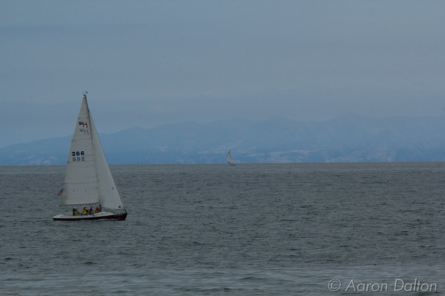 Two Sailboats Before Santa Cruz Island