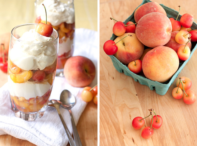 Cherry-Peach Yogurt Parfaits