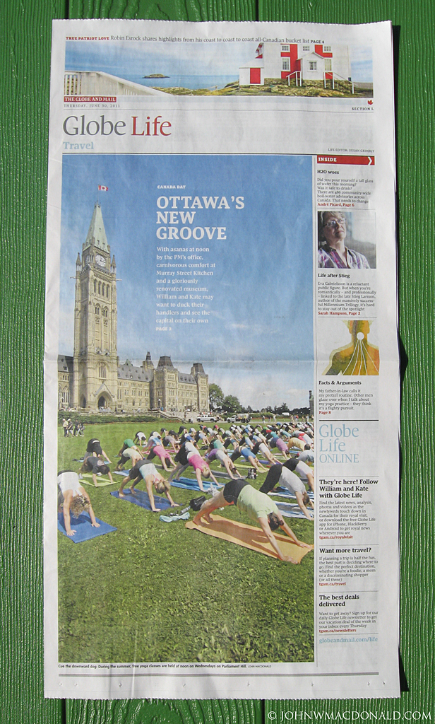 Tearsheet - Globe and Mail