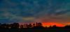 Colours Of The Sky (Foto_Michel) Tags: blue sunset red summer sky orange tree rot field clouds warm sonnenuntergang sommer feld himmel wolken blau schatten baum stuktur