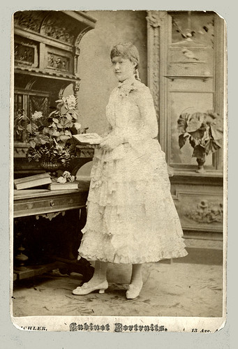 Cabinet Card by Eichler, N. Y. slightly trimmed