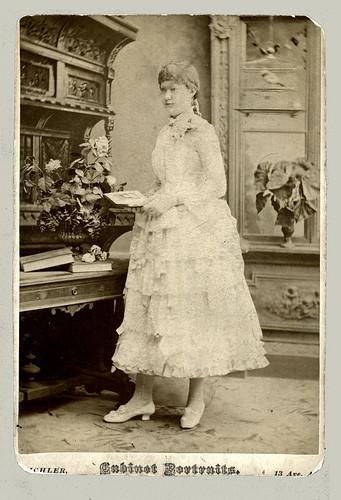 Cabinet Card by Eichler, N. Y. slightly trimmed