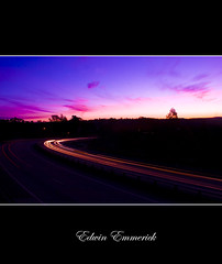Pink with trails (edwinemmerick) Tags: longexposure sunset 20d canon eos linden australia nsw lighttrails edwin traffictrails emmerick edwinemmerick