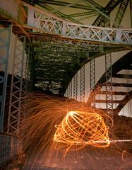 Light Honey Comb (Pixel-Poison Photography) Tags: peppermillroadbridge baltimore longexposure nightphotography nikond300s nikon1755mm28 bridges