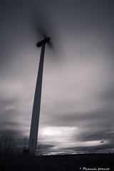 """vapore"" (pascaleforest) Tags: ciel sky cloud nuages passion nikon olienne windturbine longuepose longueexposure gaspsie vent wind"