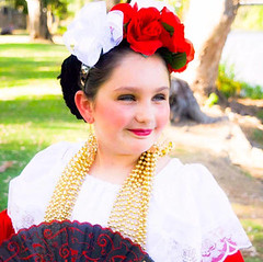 Veracruz Girl (maiagonzalez1) Tags: folklorico folklore folklor folk mexico mexican dance dancing balletfolklorico canon people dancers dancer culture tradition cultural mexicano california centralvalley selma centrodefolklor students student girl flowers smiling smile costumes veracruz white dress lace ribbons red headpiece fan black nature outdoor earrings gold jewlery allrightsreserved copyright 24bit