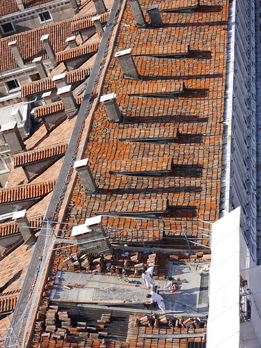 Repairing a roof on St Marks
