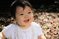(Jessey Kameo) Tags: baby girl autumn october canonrebelt6i canon kentucky pearls leaves