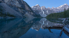 Soft Reflections in the Morning (Ken Krach Photography) Tags: lakemoraine banffnationalpark
