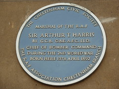 Photo of Arthur T. Harris blue plaque