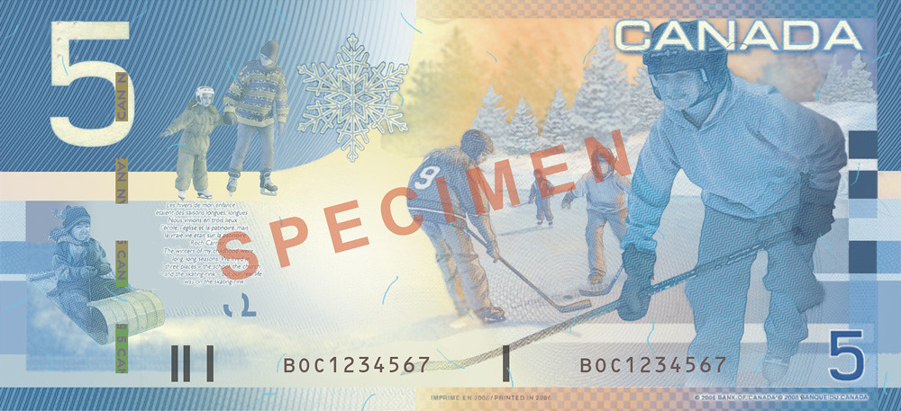 $5 (back) - 2001-2006, Canadian Journey