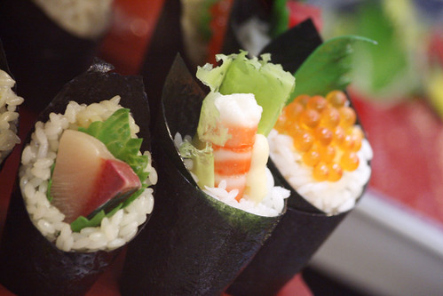 Colorful Seafood Sushi