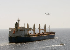 SH-60B helicopter responds to pirate attempt a...