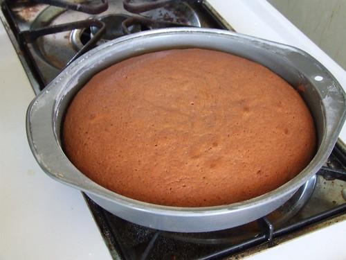 Beet Velvet Cake - baked