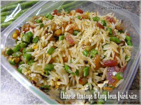 Chinese sausage & long bean fried rice