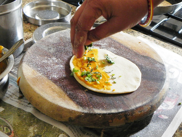 Besan Paratha, the Making of