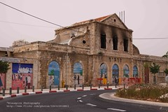 Jerusalem, Train station, front side (blauepics) Tags: building station architecture train turkey tren israel palestine eisenbahn railway bahnhof east trkei empire architektur ottoman middle bahn osten turks gebude palstina reich trken osmanl mittlerer istasyonu osmanisches ottomanstyle