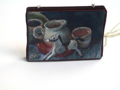 Galop (TUKON by Vered) Tags: horse stilllife art painting miniature acrylic pitcher pendant   galop
