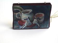 Galop (TUKON by Vered) Tags: horse stilllife art painting miniature acrylic pitcher pendant סוס ציור galop כד תליון אקריליק מיניאטורה