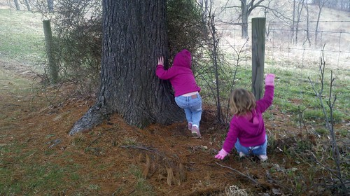 Julia and Lucy find a cache