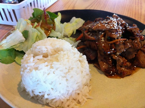 Spicy pork loin teriyaki