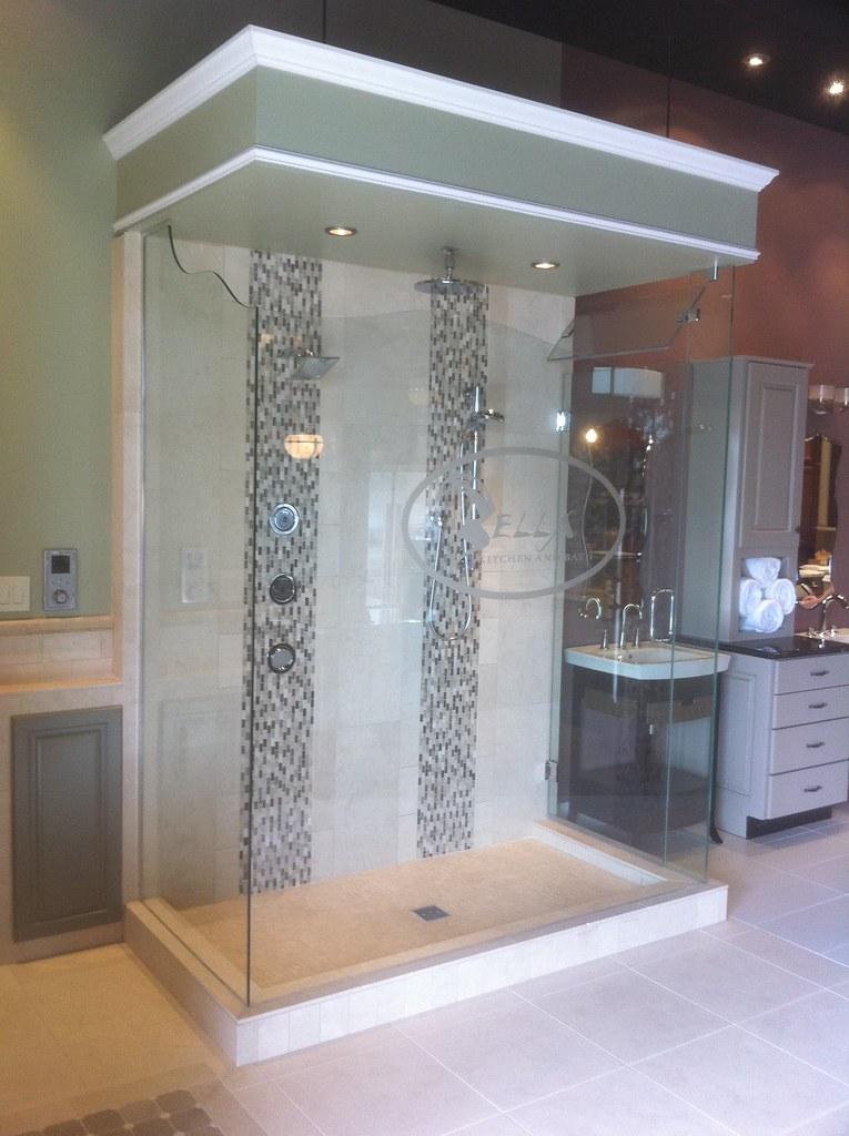 Shower Door Display at Bella Kitchen and Bath