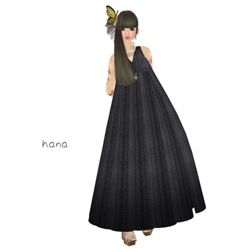 :pesca:knit long dress gray