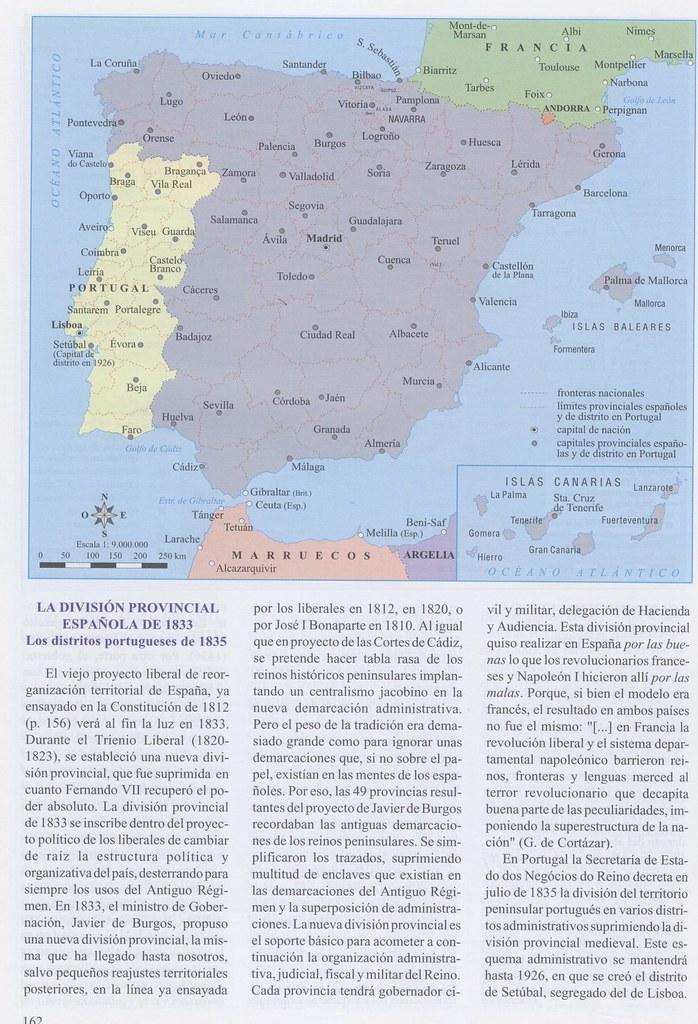 División provincial de J. de Burgos 1833