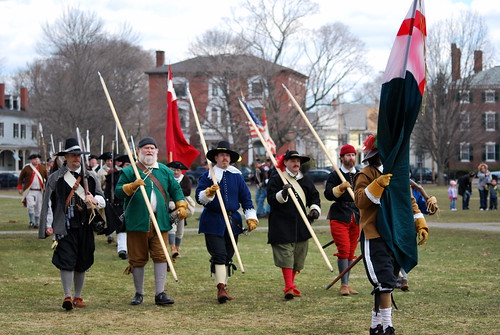Salem Trayned Band - a group that re-enacts the 17th century Salem militia