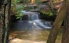 Creation Falls (John P.C.) Tags: tree fall nature water creek forest canon rebel waterfall spring stream kentucky ky hike gorge redrivergorge xsi slade rockbridge danielboonenationalforest creationfalls swiftcampcreek dbnf