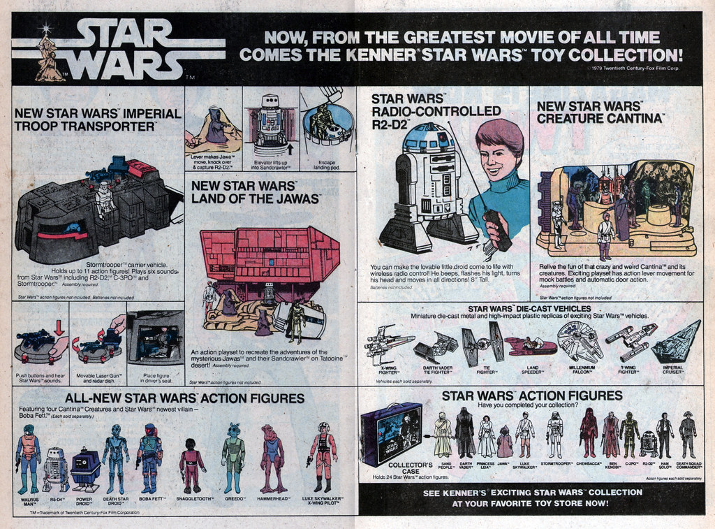 Ad for Kenner Star Wars toys from Wonder Woman 263