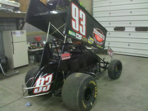 Sheldon's #93 sprint car that he will be racing April 8/9 at Attica
