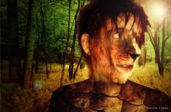 (ioshi89) Tags: art forest photoshop selva lion 2011 ioshi89