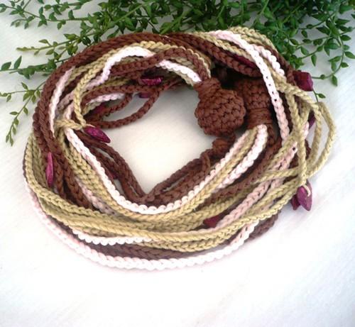 """Collar crochet """"almendro"""""""
