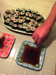 Sushi night at Rachel's
