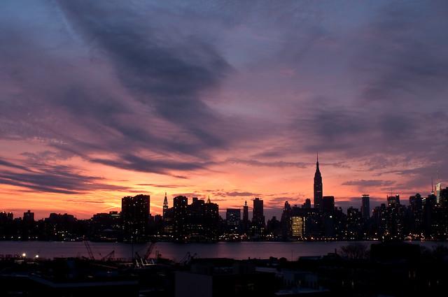 100/365 - Midtown Skyline Sunset.