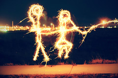 14/52 (-Fearless-) Tags: light boy lightpainting girl paint sparklers stick stickfigures figures girlandboy nevadagasstations fireworkbansmeettheirmatch