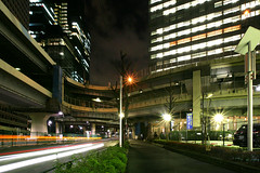 Tanimachi Junction - 08 (Kabacchi) Tags: night tokyo highway  nightview expressway  interchange      jct tanimachijunction ~tanimachijunction~