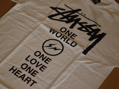 STUSSY×Fragment ONE WORLD.ONE LOVE.ONE HEART TEE