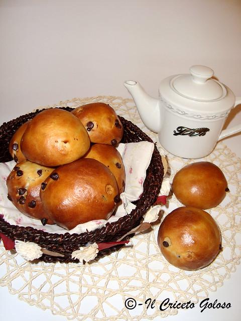 Panini con gocce di cioccolato