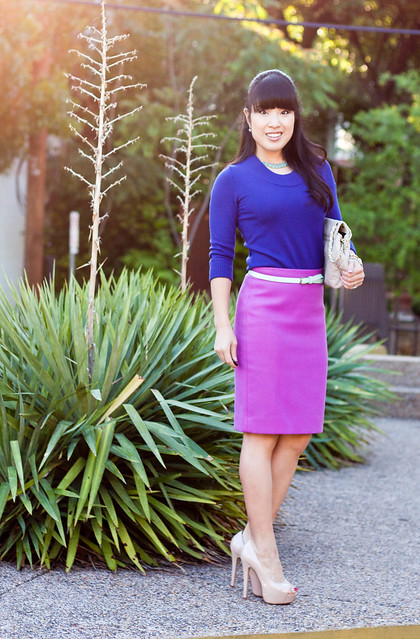 banana republic purple knit j. crew double serge skirt bright dahlia yesstyle beige quilted purse mk 5430 forever 21 mint green belt