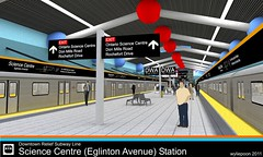 Science Centre Station (DRL Platform) (wyliepoon) Tags: toronto station architecture subway design 3d google model metro ttc transit sketchup lightrail streetcar lrt rendering sciencecentre ontariosciencecentre kerkythea eglintonavenueeast transitcity downtownreliefline