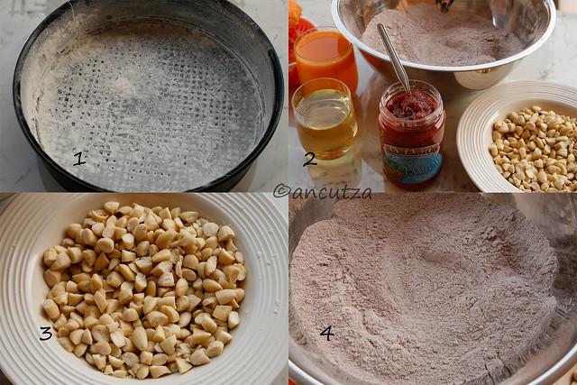foto preparazione tortino cioccolato lamponi