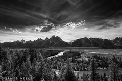 Grand View (James Neeley) Tags: blackandwhite bw mountains landscape grandtetons tetons hdr gtnp 5xp jamesneeley