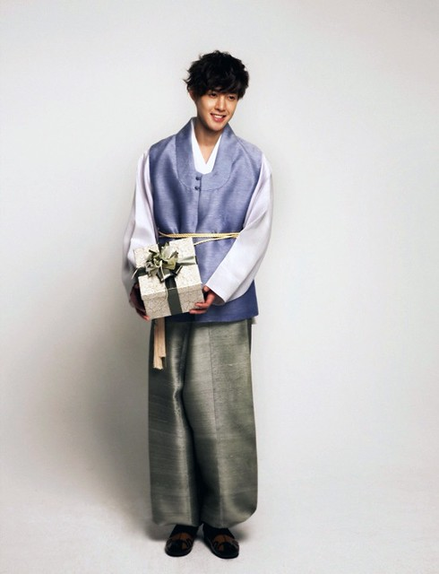 Kim Hyun Joong In Hanbok for Lotte Duty Free Photoshoot
