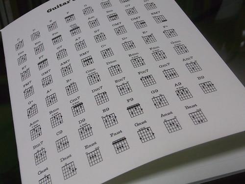 """""""Guitar chords""""notebook"""