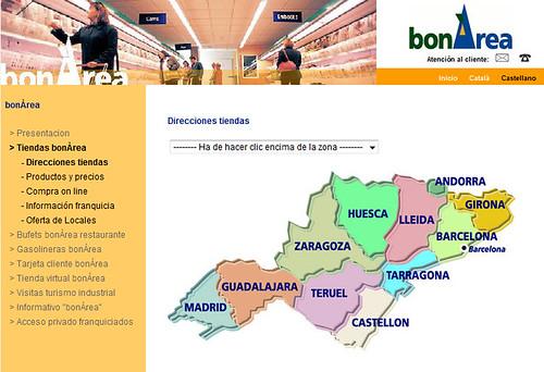 mapa de tiendas bonarea