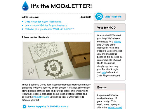 featured in the moosletter